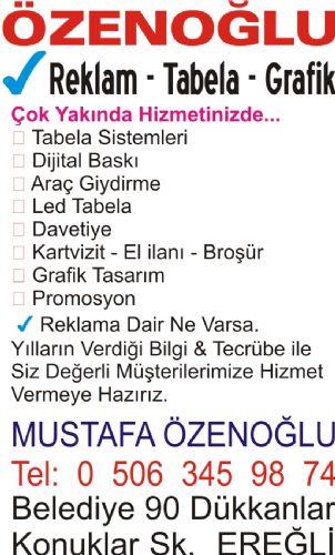 Özenoğlu: Reklam-Tabela-Grafik - Mustafa Özenoğlu