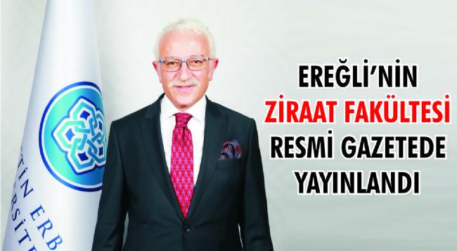 Necmettin Erbakan Üniversitesinden Ereğli'ye Ziraat Fakültesi