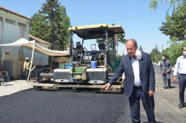 Başkan Oprukçu Sıcak Asfalt Çalışmalarını İnceledi