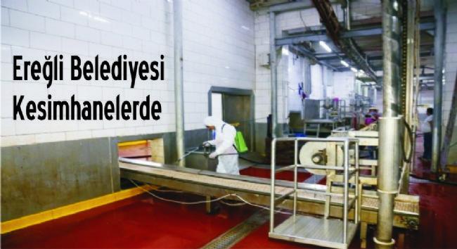 Ereğli Belediyesi kesimhanelerde dezenfekte çalışması yapti