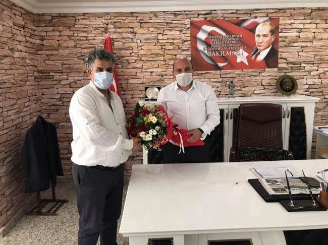 CHP İlçe Başkanı Gönülal'dan Kaymakam Çakıcı'ya Hayırlı Olsun Ziyareti