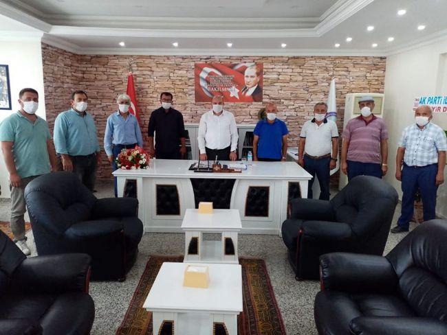 Muhtarlar derneği başkanı Karaca, Kaymakam Çakıcı'yı Ziyaret Etti