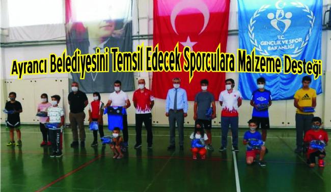 Ayrancı Belediye Başkan Yüksel Büyükkarcı sporculara moral verdi