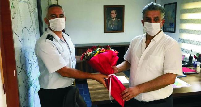 CHP İlçe başkanı Gönülal, Jandarma komutanını ziyaret etti