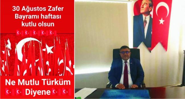 İYİ Parti ilçe başkanı Amil Acar 30 Ağustos Zafer Bayramı'nı Kutladı