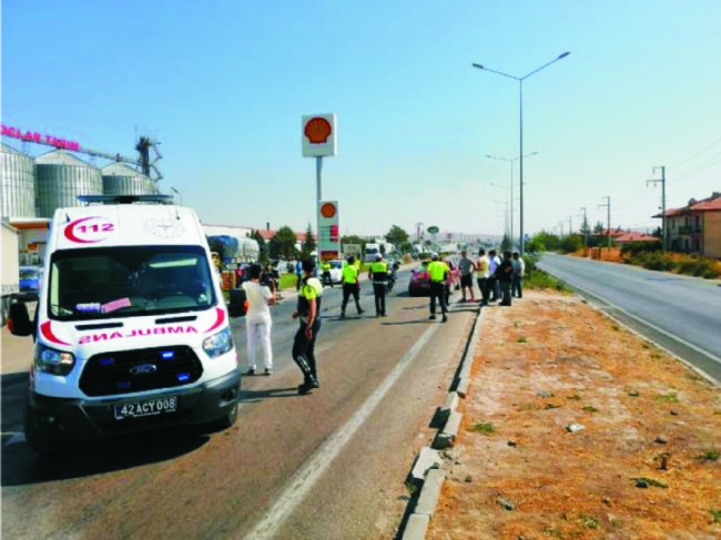 Ereğli'de meydana gelen kazada bisiklet sürücüsü ağır yaralandı