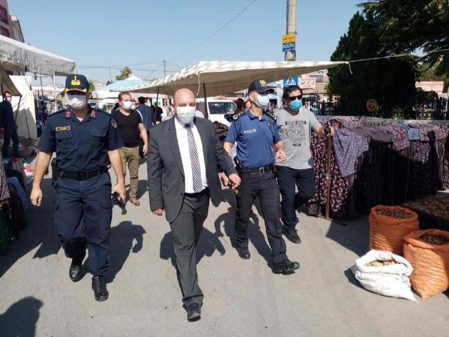 """EREĞLİ KAYMAKAMI EDİP ÇAKICI """"KORONAVİRÜS"""" DENETİMİ YAPTI"""