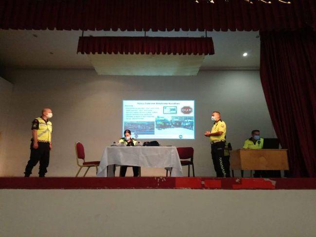 Ereğli'de servis şoförleri bilgilendirildi