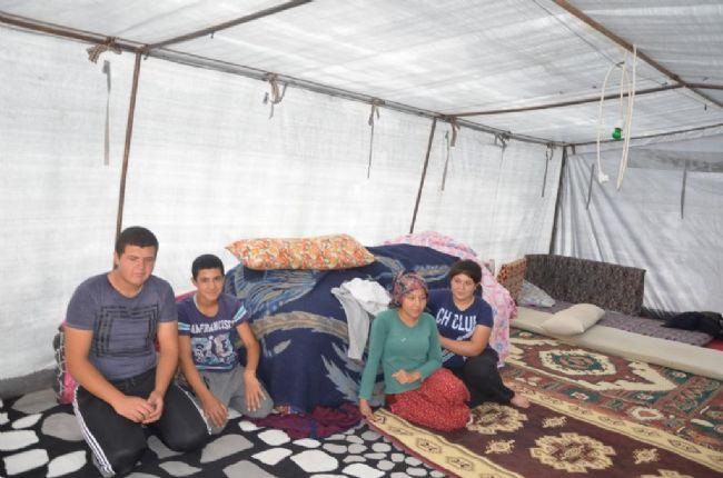Ereğli belediyesi deprem mağdurlarına çadır dağıttı