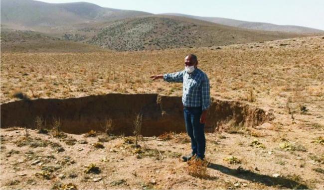 Ereğli'de 30 metre çapında obruk oluştu