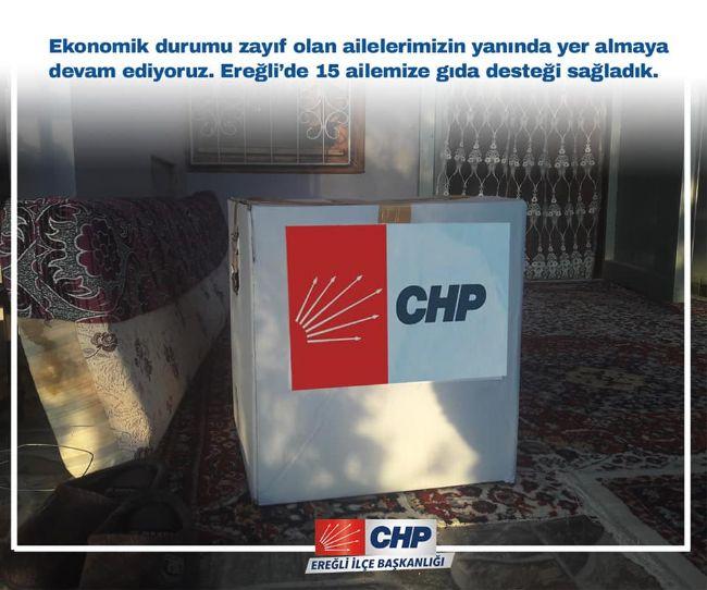 EREĞLİ CHP'DEN GIDA PAKETİ DESTEĞİ