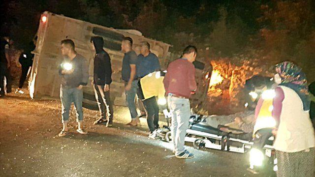 Ayrancı'dan yola çıkan kamyon kaza yaptı