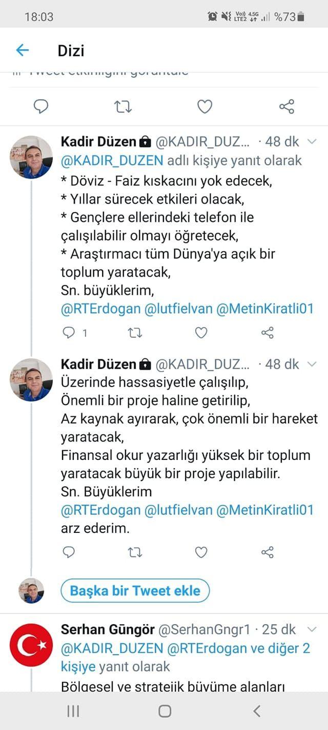 KADİR DÜZEN'DEN DAVET