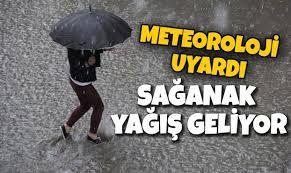 Bölgemizde yağmur ve sağanak yağış uyarısı