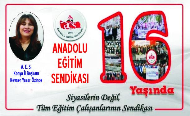 AES Konya İl Başkanı Kevser Yazar Özince Kuruluş Yıldönümünü Kutladı