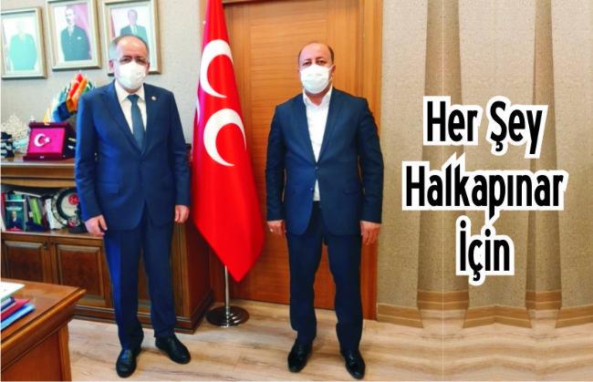 Halkapınar Belediye Başkanı  Mehmet Bakkal Ankara'da
