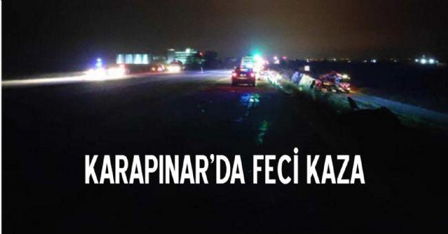 Karapınar'da feci kaza: 5 ölü, 33 yaralı