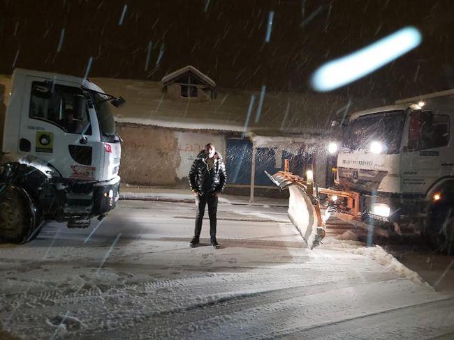 Ereğli belediyesi buzlanmaya karşı önlem alıyor