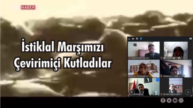 Halkapınar kaymakamı Bildirici ve Başkanı Bakkal çevirimiçi yayında