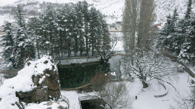 Halkapınar'da tarım anıtı beyaza büründü