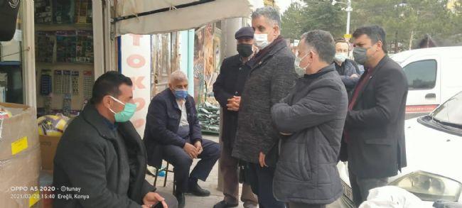 CHP İlçe Başkanı Gönülal ve Ekibi Esnafı Ziyaret Etti