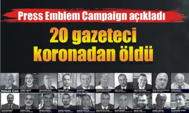 BİRİ BİZDEN TÜRKİYE'DE 20 GAZETECİ CORONADAN YAŞAMINI YİTİRDİ