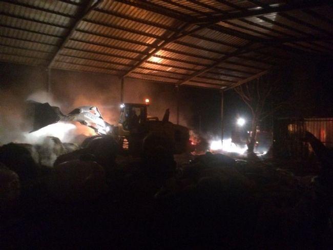 Ereğli'deki hayvan çiftliğinde yangın
