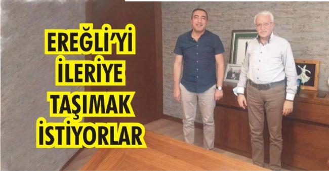 İşinsanı Halil Ercan ve Rektör Cem Zorlu Ereğli'nin Geleceğini Konuştu