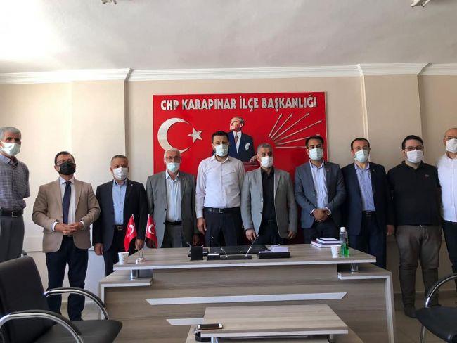 EREĞLİ CHP'DEN KARAPINAR CHP'YE ZİYARET