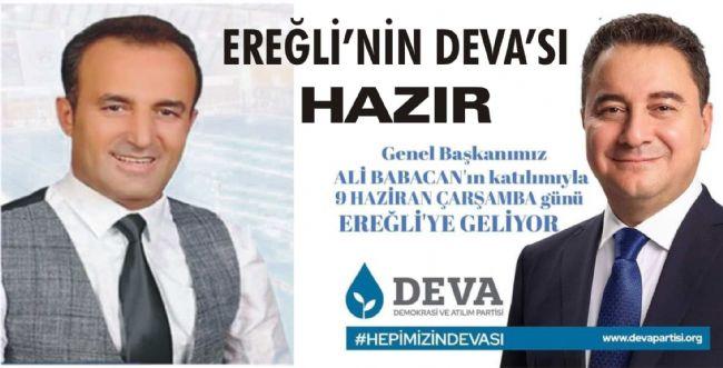 Nurullah Yılmaz: Genel Başkanımız Ali Babacan Ereğli'ye Geliyor