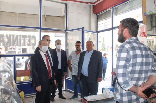 CHP MİLLETVEKİLİ ŞENER, EREĞLİ'DE ESNAFI ZİYARET ETTİ