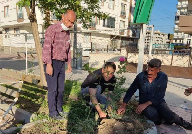 Ziya Gökalp Mahallesi Muhtarı Murat Akkaş Muhtarlık Binasını Güzelleşt