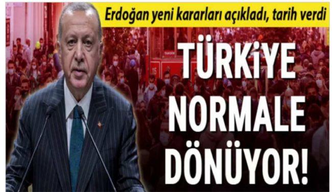 Cumhurbaşkanı Erdoğan kabine toplantısı sonrası duyurdu