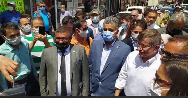 Amil Acar ve Veysel Gönülal, Davutoğlu'nu Karşıladı
