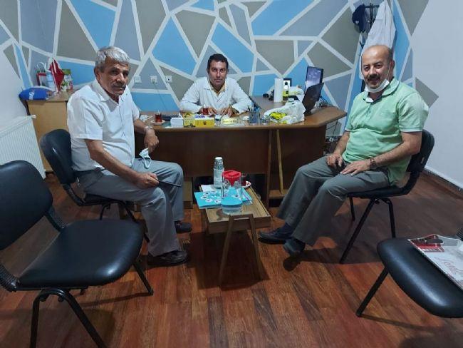 ECVET ERKOÇ İZZET GEYİK'İ ZİYARET ETTİ