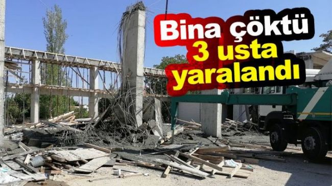 Ereğli'de Karayolları İnşaatı Çöktü,