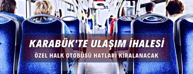 Karabük'te toplu ulaşım hattı kiralama ihalesi