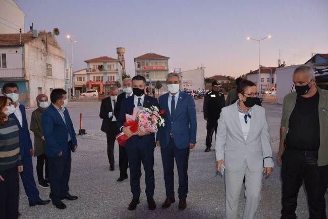 Başkan Yüksel Büyükkarcı, bakan Pakdemirli'yi Karşıladı