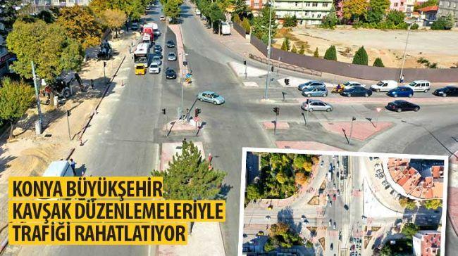 Konya Büyükşehir Kavşak Düzenlemeleriyle Trafiği Rahatlatıyor